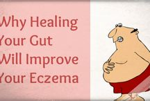 Gut Health and How to Heal Eczema / Our skin conditions are 100% related to our gut health. When we heal our gut our skin heals. I am living proof that when you heal your gut you skin heals too! You can visit my website to read my health story. www.feastingonjoy.com