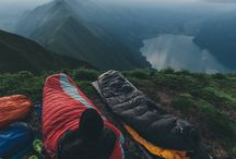 camp and hiking