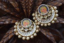 Hand Painted Silver Jewellery / Delicate hand painted silver jewellery made with precise acumen.
