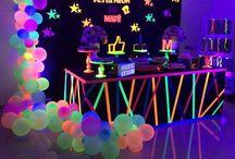neon party piknik