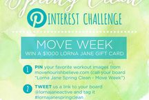 Lorna Jane Spring Clean - Move Week / Take on @LornaJaneActive's Spring Clean on Pinterest with us throughout the month of April! In week 1, we kick things off with Move week.   **Your challenge is to pin images of at least 10 new ways to Move your body from anywhere on movenourishbelieve.com. Whether it's Tabata, H.I.I.T, Yoga, or others, we want to see you getting out of your comfort zone! You could win $1000 to shop 'til you drop at Lorna Jane and get healthier in April! / by Fit Approach