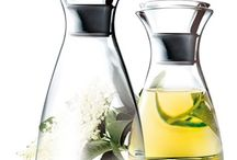 Karafy a džbánky / Karafy na vodu, džus, mléko