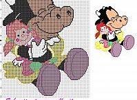 Raccolta di schemi punto croce Disney / Una raccolta di schemi punto croce dei cartoni animati Disney realizzati da Wally.