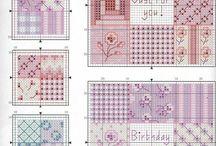cross stitch patchwork
