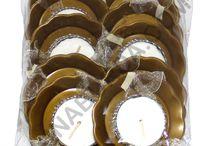 Çayda Çıra El Mumu / Her pakette 10 adet aynı renk vardır.