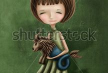 Astrological Sign Girls Illustrations / Astrological Sign Girls Illustrations
