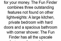Fun Finder / The Fun Finder combines three outstanding features not found on other lightweight RVs: a large kitchen, private bedroom with hard doors and a spacious bathroom with corner shower. When you consider all you get with these travel trailers, this is one value-packed camper for your money. http://cruiserrv.com/fun-finder