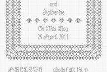 Cross stitch patterns / by Kathy Getchell