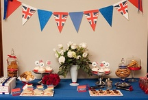 British Theme Cake & Party