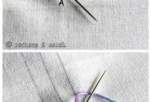 stitching sewing buttoning up