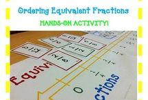 Teaching fractions / This is a collection of classroom math resources and teaching ideas all focused on teaching fractions in the classroom.