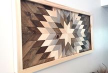 Wood quilt wall art