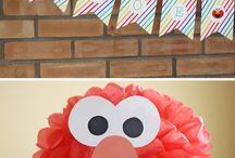 Sesame street / Sesame street themed birthday party ideas and cake.