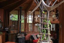a den or treehouse (igcse) / Design a den or treehouse made of natural materials