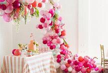 cascada de globos