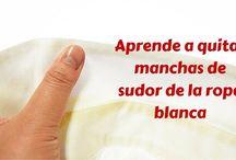 Quitar manchas de sudor en ropa blanca