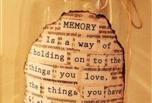 Memory jar  / Going to try this. Memory jar 2014.