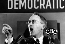 Tommy Douglas / When in 1934 a young Baptist minister entered Saskatchewan politics, a trend began which was to place Tommy Douglas at the head of the first social democratic government in Canada. This led to new initiatives in the arts, health, industry, road building, energy, and justice.