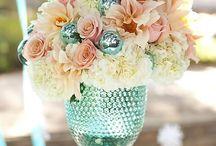 Aqua Compote Floral Ideas