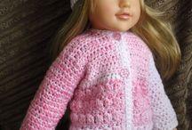 H16 Puppenkleidung,Genäht, gehäkelt u. gestrickt
