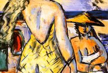 Art of Max Beckman / Max Beckmann (February 12, 1884 – December 27, 1950) was a German painter, draftsman, printmaker, sculptor, and writer. Although he is classified as an Expressionist artist, he rejected both the term and the movement. In the 1920s, he was associated with the New Objectivity (Neue Sachlichkeit), an outgrowth of Expressionism that opposed its introverted emotionalism.