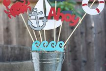 Nautical Theme Birthday Party Ideas - Cake 2 The Rescue / Super cute party food and table decorating ideas to compliment our fantastic Nautical themed Cake Rescue Kit from www.cake2therescue.com.au
