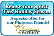 Special Offers, News and Updates from Christian Patriot Jewelry / Here's where we will notify our Pinterest friends about special offers and product updates!