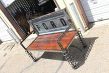 Truck Tailgate Benches /  DIY Old Truck Tailgate Garden Bench for sale by Raymond Guest at Recycled Salvage Design www.recycledsalvage.com #tailgate #tailgatebenches #tailgatebench #trucktailgatebench #diy #doityourself