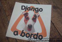 Perro a bordo / Pegatinas de perro a bordo para el coche