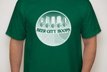 BeerCityHoops t-shirts! / Tees with our logo!