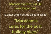 The Winner of the Macadamia Natural Oil - Luxe Repair Kit Competition  / And the winner is....Donna Sadler!  We liked Donna's entry because we agreed with every pin she put :) Sunday dinners are our favourites and we are big animal lovers!! Of course we love a bit of Macadamia Deep Repair masque too!