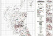 Ordnance Survey Administrative Boundary Maps / OS Admin boundary maps