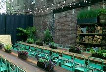 PHS Pop Up Beer Gardens - Philadelphia / We outfitted two pop up beer gardens in Philadelphia with our string lights. 15th and South Streets and 9th and Wharton. Come check them out!