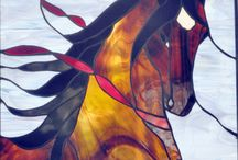 Stainglass.Equestrian