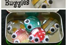 reusable crafts - tin with stone bugs