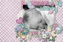 Once Upon A Dream Digital Scrapbooking Collection by Kathryn Estry / Once Upon a Dream is a whimsical collection for boys and girls.  A land of Make Believe appears in their dreams, and this huge collection has all sorts of fun elements for any little girl or boy page.