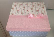 caixas forrada de tecido