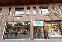 Facade / The entrance of our hostel.