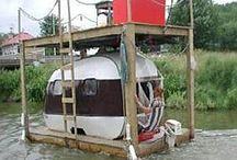 HouseBoats / Homes on the water in the form of a houseboat.