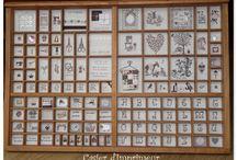 Setzkästen gestickt / Setzkasten - casier d'imprimeur - letterbak