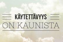 UXisms in Finnish / UX- ja käytettävyys-aiheisia mietteitä ja sitaatteja suomen kielellä