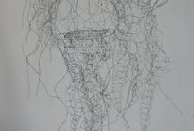 ~ Wire sculptures / Wire sculptures, sculptures fil de fer