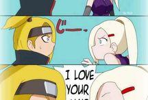 Naruto ( Anime not character ) / My favourite anime ! I love Sasuke and like Shikamaru , Kiba , Neji , Hinata , Tenten , Kakashi , Deidara , Sasori... And I hate Sakura and Naruto with my heart