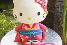 hello kity fondant cake