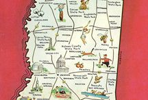 Vintage State Map Postcards