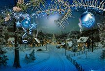 ♥ GIF zimní  a vánoční ♥