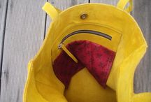 cache tote / Suede handmade tote byCACHE