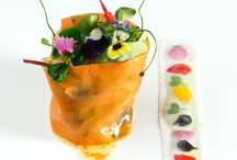 Edible flowers . Food art. / Dishes to inspire an edible flower grower.