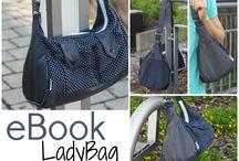 Tasche LadyBag / Fotosammlung der Tasche LadyBag, nach dem Schnittmuster von Keko-Kreativ. Tolle Designbeispiele und Ideen für das Ebook LadyBag.