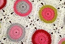 punto y crochet, mantas, colchas / mantas y decoración con punto y crochet
